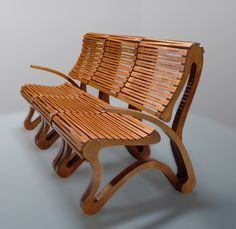 """Modular chairs with """"flexible"""" plywood seat"""