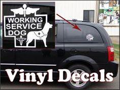 Service Dog Gear - Service Dog Window Decals
