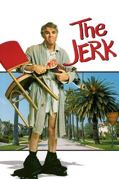 The Jerk (1979) | http://www.getgrandmovies.top/movies/10546-the-jerk | After discovering he's not really black like the rest of his family, likable dimwit Navin Johnson runs off on a hilarious misadventure in this comedy classic that takes him from rags to riches and back to rags again. The slaphappy jerk strikes it rich, but life in the fast lane isn't all it's cracked up to be and, in the end, all that really matters to Johnson is his true love.
