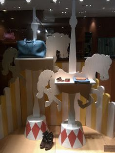 carousel horse in window display - Google Search