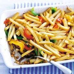Shoarma met paprika en frites