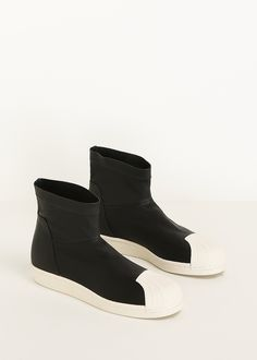 Rick Owens Superstar Ankle Boot (Black / White)
