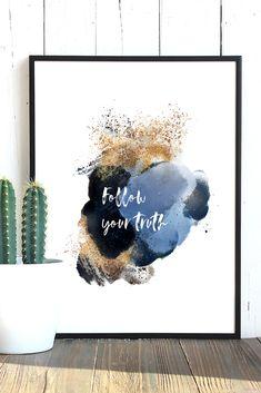 Cute printable wall art. This inspirational watercolor quote print will add a splash of color to your living room, bedroom or office. It is available as a digital download in 4 different sizes: 5 X 7 inches, 8 X 10 inches, European standard A4 and US letter (8.5 X 11 inches). After purchase you can download the picture and print it as many times as you want :) Color may vary from monitor to monitor. Personal use only, no reselling. Watercolor Quote, Watercolor Flowers, All Poster, Posters, Quote Prints, Art Prints, Wall Decor Quotes, Pink Lotus, Printable Wall Art