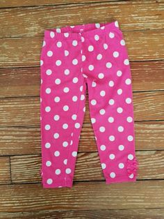 Falls Creek Kids 2T pink polkadot pants
