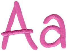 All Things Pink Alphabet at Bunnycup Embroidery at http://www.bunnycup.com/embroidery/design/AllThingsPinkAlphabet