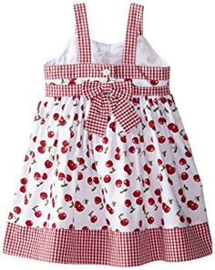Blueberi Boulevard Girls' Little Gingham Bow Front Dress Frock Patterns, Baby Dress Patterns, Little Girl Dresses, Girls Dresses, Diy Clothes And Shoes, Baby Dress Design, Sewing For Kids, Cute Dresses, Toddler Girl