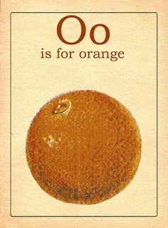 The Letter O Vintage Alphabet Flash Card