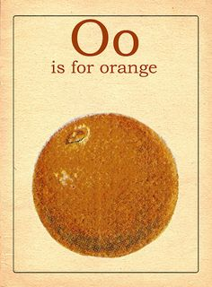 Vintage O alphabet card
