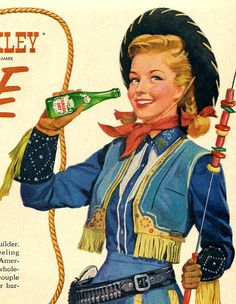 vintage western 1950 advertisement cowgirl annie by FrenchFrouFrou, $14.95