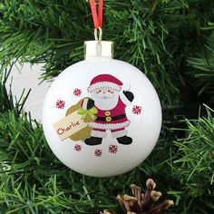 Personalised christmas baubles - 4 #great #designs - add name and #message,  View more on the LINK: http://www.zeppy.io/product/gb/2/271603704893/