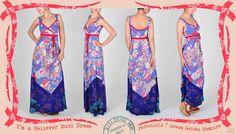 022 I'm-a-Believer maxi dress in periwinkle Geisha Memoirs