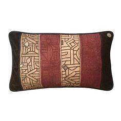 African Kuba Cloths Pillow 23 x 13 Tribal People, Eye For Detail, Vintage Cotton, Lapel Pins, Textile Art, Cotton Linen, Cloths, Hand Weaving, Brown Leather