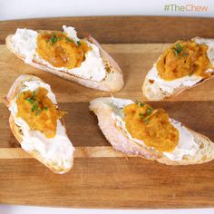 Daphne Oz's Butternut Squash with Goat Cheese #Crostini #TheChew