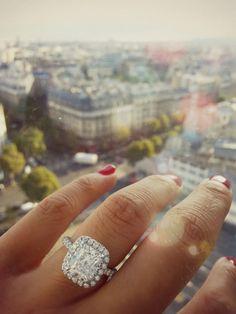 Beautiful ring and a beautiful view! #Paris
