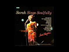 """Sarah Vaughn's """"Round Midnight"""" makes the hair on my arms stand up!  Love it ♥"""