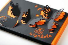 Luxury hand-made chocolatier Adoré have been given a very creative re-brand by Serbian agency Coba & Associates. Lots of lovely foil blocking, laser cutting and creative printing techniques make this one very desirable chocolate bar!