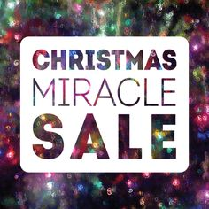 It's a Christmas miracle how much you'll save on gifts at this sale! #christmas #sale As Christmas approaches the discounts on Christmas decor get bigger. Dec. 13-17 30% and Dec. 20-23 50%