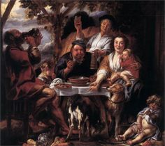 Jacob Jordaens, Eating Man, 1640s - 1660