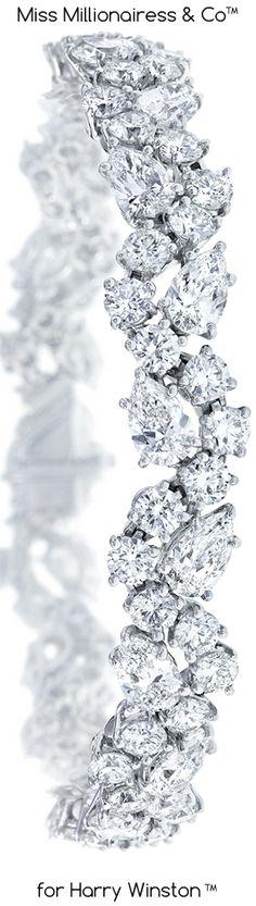 http://rubies.work/0517-sapphire-ring/ Cluster Diamond Bracelet / Harry Winston More