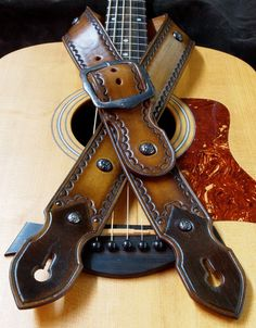 Leather Guitar strap Best Quality hand made in Brooklyn.