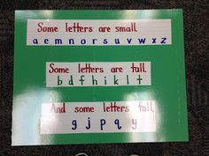 I think I will post this in my magnetic letters center.  It will make a great reference chart for the kids working there.