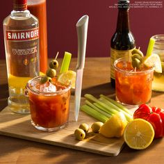 THE BLOODY CAESAR. Spend the Ides Of March making delicious drinks with your friends. Just watch your back while mixing.  Just mix 1.5 oz Smirnoff No. 21 Vodka, 3 oz Tomato + Clam Mix, a dash of heat and a dash of Worcestershire Sauce, and enjoy!