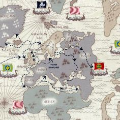Drygoods Design — Viking Map (Organic)