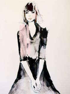 Anchor ~ Fashion Illustration by Leigh Viner