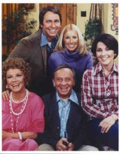 John Ritter (Jack Tripper),  Joyce DeWitt (Janet Wood),  Suzanne Somers (Chrissy Snow)  Richard Kline (Larry Dallas),  Audra Lindley (Helen Roper) &  Norman Fell (Stanley Roper) - Three's Company