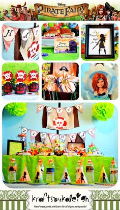 Disney Pirate Fairy Birthday Party Package por KraftsbyKaleigh