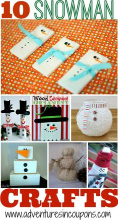 Love snowmen? These 10 DIY Snowman Crafts are sure to put you in the holiday spirit!