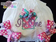 Ready to ship size 12-18 months Birthday Princess Frills present appliqued diaper cover bloomers for baby girl toddler. $24.95, via Etsy.