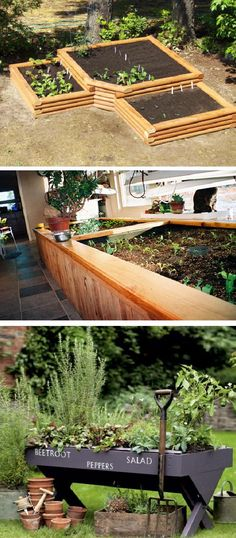How to Plan Your Vegetable and Herb Garden- I like the idea of building a raised garden on the edge of the patio