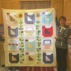 Looky at my peep Geri's (no IG) farm girl vintage quilt show and tell today…