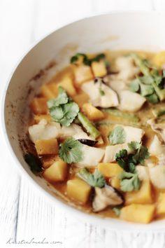 pumpkin & vegetable fish thai curry