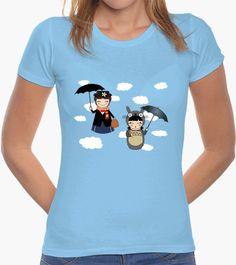 Camiseta Kokeshis Poppins and Totoro