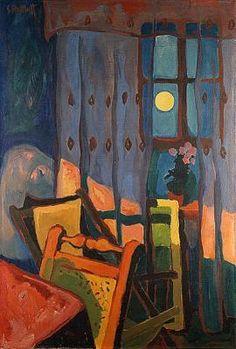Karl Schmidt-Rottluff (Karl Schmidt until 1 December 1884 August was a German expressionist painter and printmaker; he was one of the four founders of the artist group Die Brücke. Wassily Kandinsky, Ernst Ludwig Kirchner, Art And Illustration, Schmidt, Modern Art, Contemporary Art, Expressionist Artists, Harlem Renaissance, Art Moderne