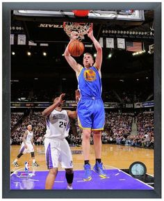 """David Lee 2013-14 Warriors - 11"""" x 14"""" Photo in a Glassless Sports Frame"""