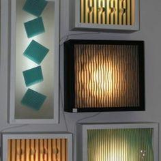 Wall lamps, handmade glass.