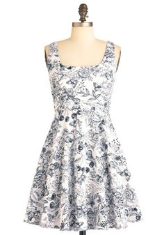 Very Berry Charming Dress in Black and White, #ModCloth