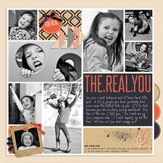 #papercraft #scrapbook #layout  The Real You