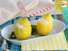 Lemon sorbet, a fresh dessert, Recipe Petitchef Easy Summer Desserts, Lemon Desserts, Lemon Recipes, Dessert Recipes, Delicious Desserts, Zebra Cookies, Pecan Pie Cookies, Lemon Pickle, Lemon Sorbet