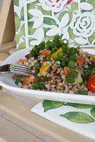 Pohankové rizoto s karotkou - 0 Vegetarian Recepies, Raw Food Recipes, Fried Rice, Cobb Salad, Quinoa, Paleo, Food And Drink, Lunch, Meals