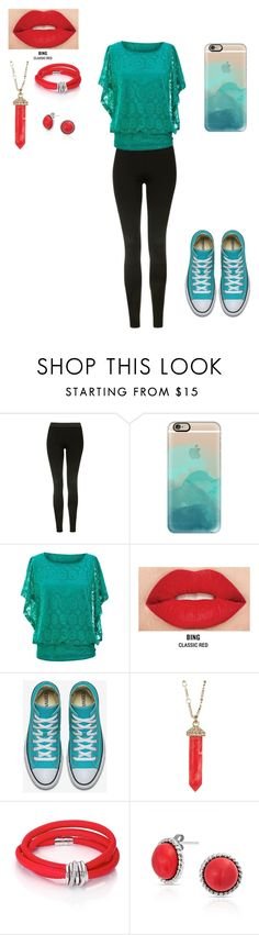 """Teal Red"" by katykitty5397 on Polyvore featuring Topshop, Casetify, Smashbox, Karen Kane, de Grisogono and Bling Jewelry"