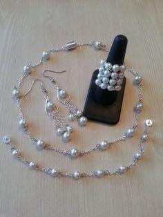 Schöne Perle Schmuck-Set 50 % Rabatt auf von CrystalHeartFactory