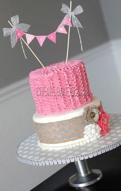 Pink and Gray Baby Shower Cake  Create. Bake. Love.: Baby Hayley
