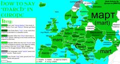 - maps-oe:  How To Say March In Europe With Etymology This map...