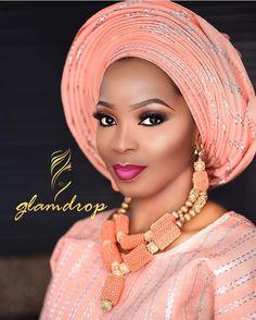 """1,303 Likes, 3 Comments - No.1 Nigerian Wedding Blog (@nigerianwedding) on Instagram: """"So peachy  so pretty  @glam_drop on the beat  #NigerianWedding"""""""