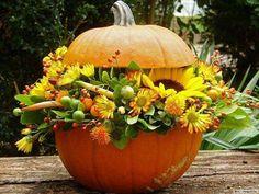 Idee fai da te per decorare casa in autunno - Zucca farcita