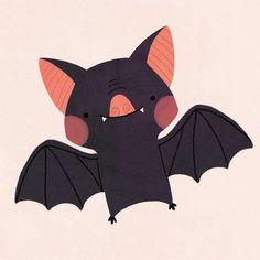 halloween illustration Halloween alphabet is this cutie.B for bat :) Kawaii Halloween, Halloween Doodle, Halloween Poster, Halloween Drawings, Halloween Bats, Halloween Pictures, Halloween Halloween, Halloween Illustration, Vampire Illustration